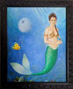 Art of junction of Princess Leia with a little Mermaid