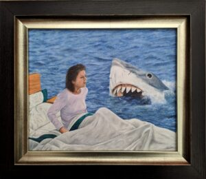 Artwork about a nightmare, jaws movie