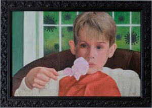 Painting about the movie home alone and coronavirus